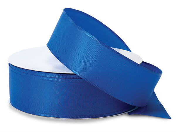 "Royal Blue Wired Fabric Florist Ribbon, 1-1/2""x50 yards"