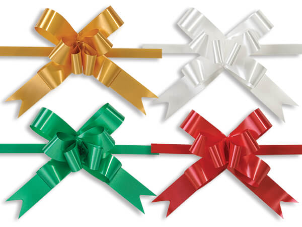 "2"" Butterfly Pull Bow Christmas Assortment, 100 Pack"