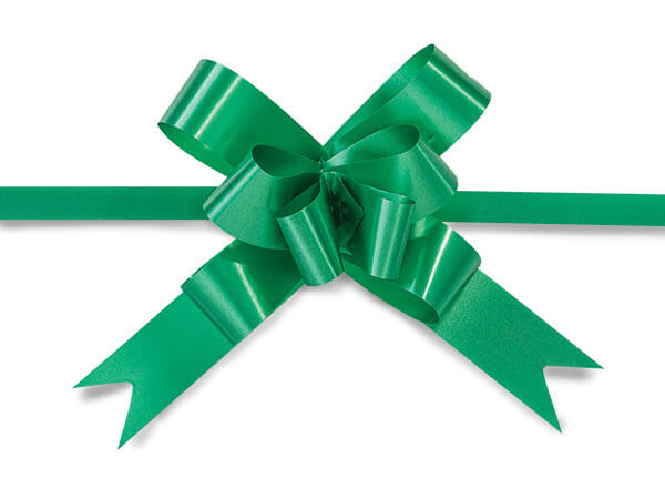 "Emerald 2"" Butterfly Pull Bows Petite Pull Bows 100% Polypropylene"