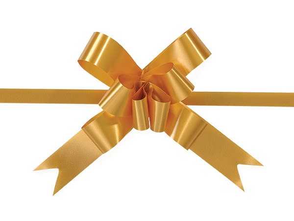 "2"" Gold Butterfly Pull Bows, 100 Pack"