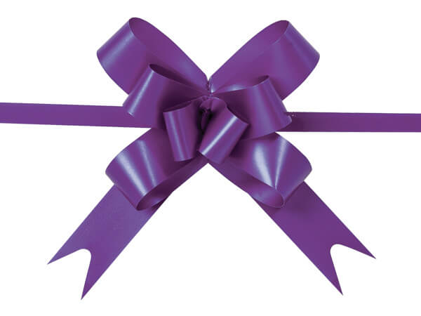 """2"""" Purple Butterfly Pull Bows, 100 Pack"""