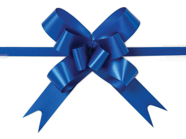 """2"""" Royal Blue Butterfly Pull Bows, 100 Pack"""
