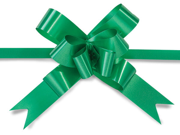"Emerald 4"" Butterfly Pull Bows Magic Pull Bows 100% Polypropylene"