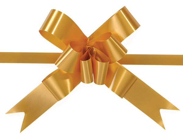 "Gold 4"" Butterfly Pull Bows Magic Pull Bows 100% Polypropylene"