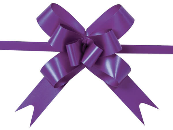 """4"""" Purple Butterfly Pull Bows, 100 Pack"""