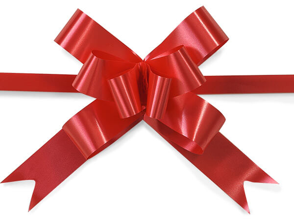 "4"" Red Butterfly Pull Bows, 100 Pack"