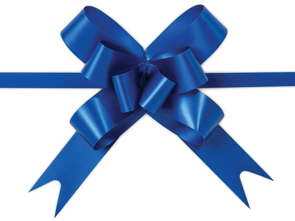 """4"""" Royal Blue Butterfly Pull Bows, 100 Pack"""