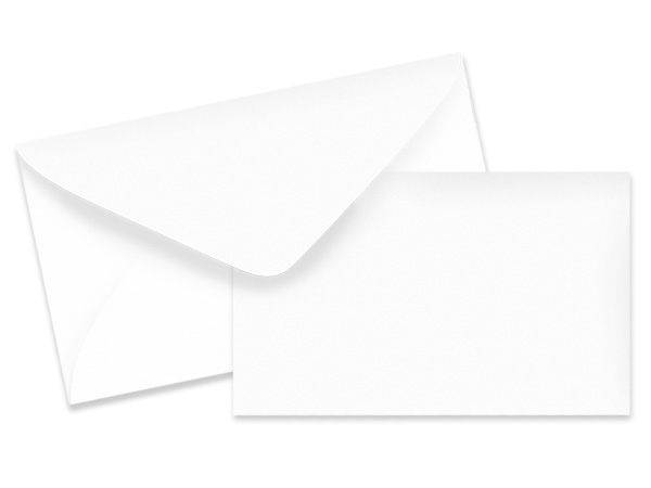 White Card & Envelope Combo Pack 100 sets