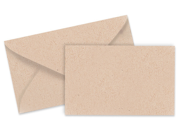 Kraft Card & Envelope Combo Pack 100 sets
