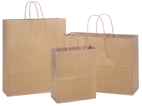 Brown Kraft Paper Bag Assortment 150 Cub, 100 Vogue & 50 Queen Bags