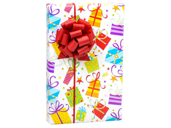 "Surprise Packages 24""x85' Reversible Gift Wrap"