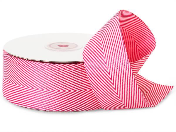 Hot Pink Herringbone