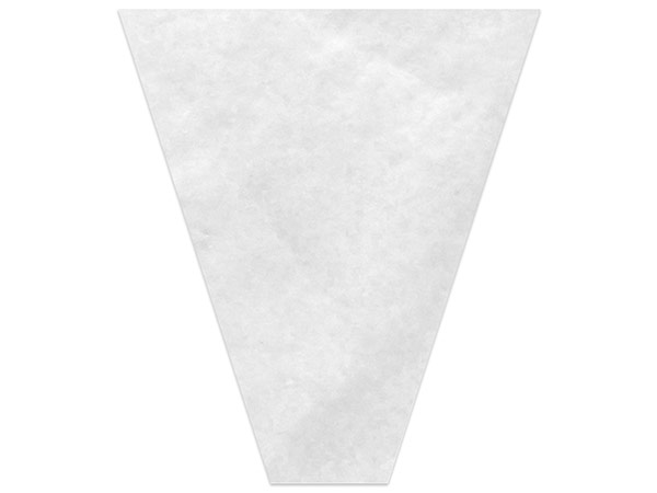 """White Mineral Paper Bouquet Sleeves 4 x 18 x 17"""""""