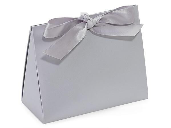 "Chrome Matte Purse Tote Gift Bags, Small 4.5x2x3.75"""
