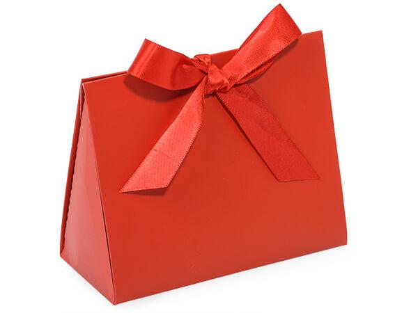 "Garnet Matte Purse Tote Gift Bags, Small 4.5x2x3.75"""