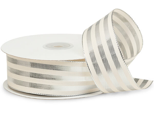 Cabana Stripe Silver Ribbon