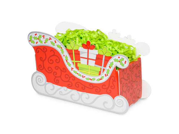 *Small Christmas Sleigh Basket Boxes 7x4-1/4x5-3/8""