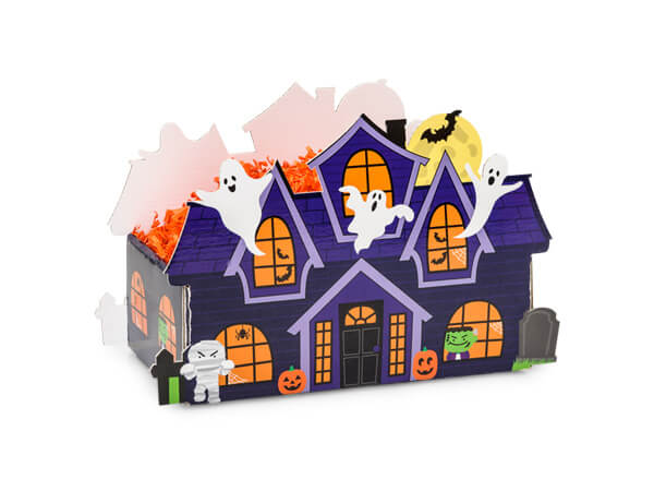 *Small Haunted House Basket Boxes 7x4-1/4x5-3/8""