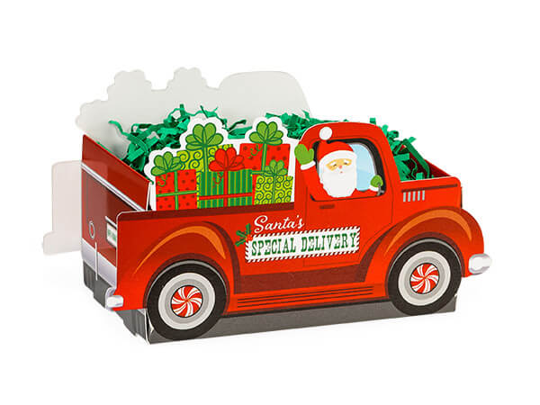 """*Small Santa's Special Delivery Basket Boxes 7 x 4 1/4 x 5 3/8"""""""