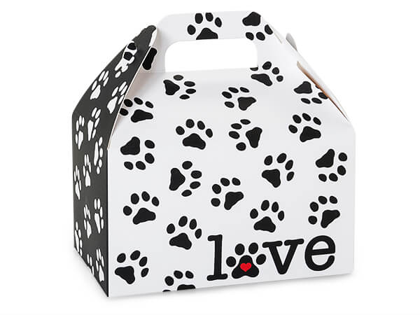 "Puppy Love Party Favor Gable Boxes 6x3.75x3.5"", 6 Pack"