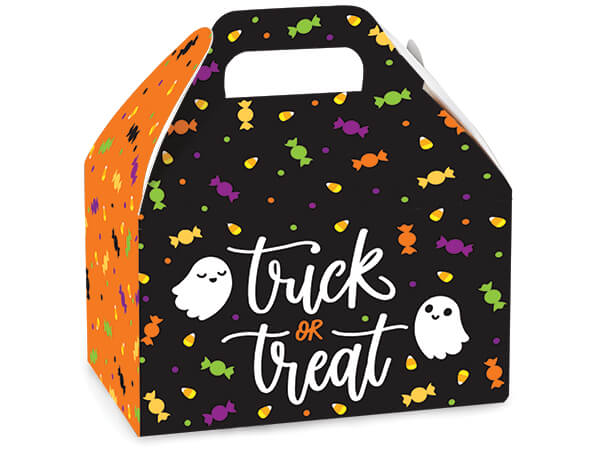 """Trick or Treat Party Favor Gable Box, 6x3.75x3.5"""", 6 Pack"""