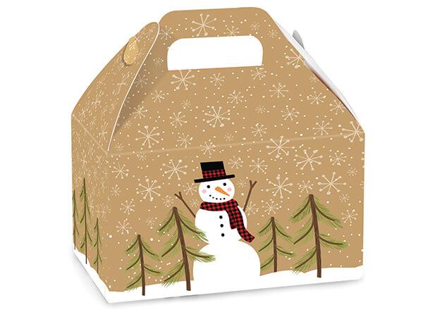 Plaid Snowman Favor Gable  Boxes