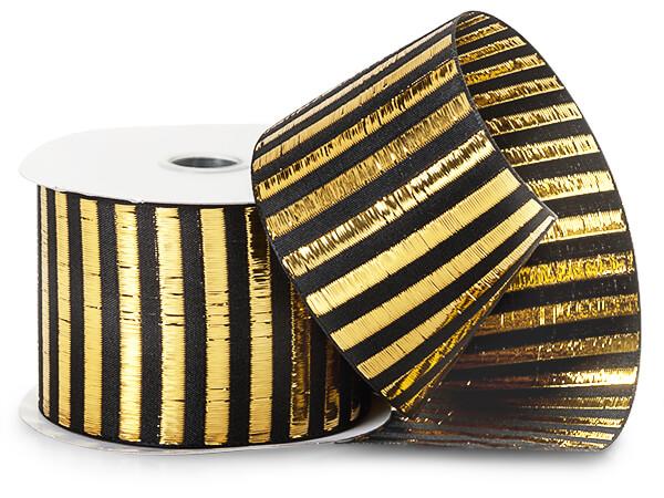 Gold/Black Picket Stripe