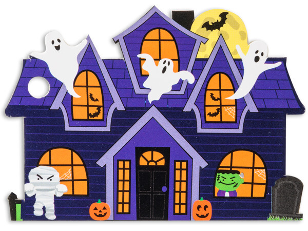 *Haunted House Theme Gift Cards 3-3/4x2-3/4""