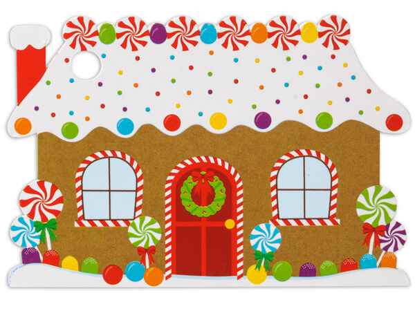 Gingerbread House Theme Gift Cards 3-3/4x2-3/4""