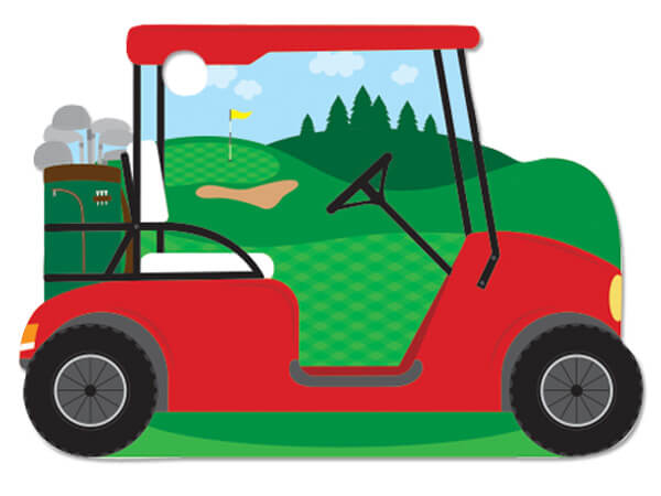 *Golf Cart Theme Gift Cards 3-3/4x2-3/4""