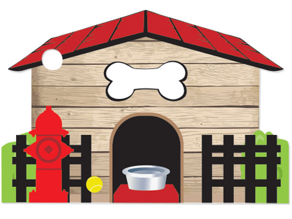 *Dog House Theme Gift Cards 3-3/4x2-3/4""