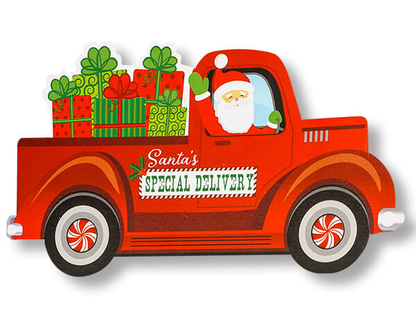 """Santa's Special Delivery Theme Gift 3-3/4x2-3/4"""""""