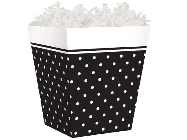 Black Swiss Dots Sweet Treat Boxes