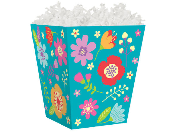 Wildflowers Sweet Treat Boxes 4 x 4 x 4-1/2""