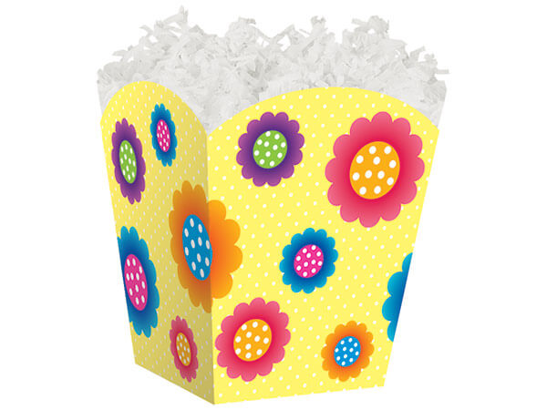 *Polka Dot Flowers Sweet Treat Boxe 4 x 4 x 4-1/2""