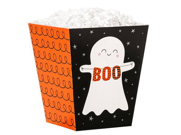 """Boo Ghosts Sweet Treat Boxes, 4x4x4.5"""", 6 Pack"""