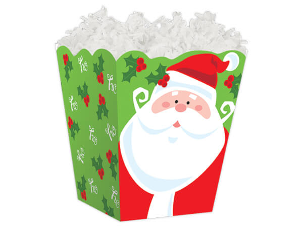 Jolly Santa Sweet Treat Gift Boxes 4 x 4 x 4-1/2""