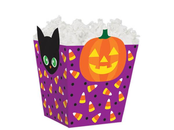 """Happy Halloween Sweet Treat Boxes 4 x 4 x 4-1/2"""""""
