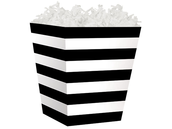 Black Stripes Sweet Treat Boxes 4 x 4 x 4-1/2""