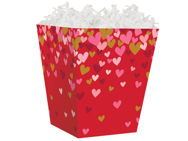 "Confetti Hearts Sweet Treat Gift Box 4 x 4 x 4-1/2"""