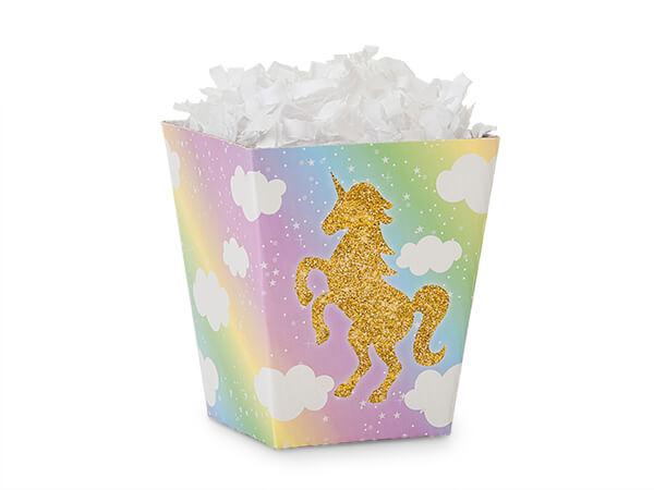 "Glitter Unicorn Sweet Treat Boxes 4x4x4.5"""