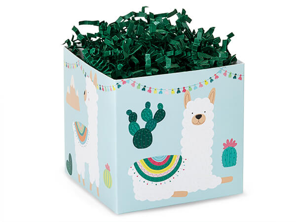 """*Party Llama Square Party Favor Gif Boxes, 3.75x3.75x3.75"""", 6 Pack"""