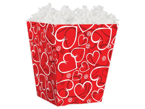 """Sassy Hearts Sweet Treat Gift Boxes 4 x 4 x 4-1/2"""""""