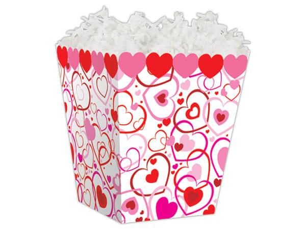 """Hearts Big & Small Sweet Treat Box 4 x 4 x 4-1/2"""""""