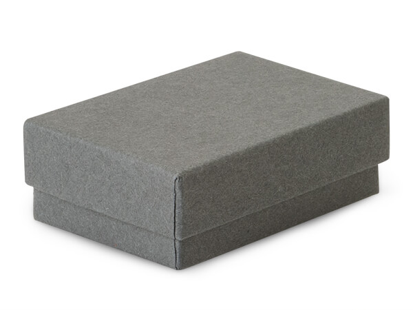 "2-7/16x1-5/8x13/16"" Charcoal Gray Eco Tone Recycled Jewelry Boxes"