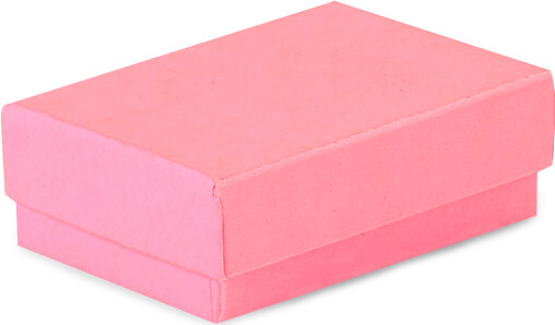 "Calypso Pink Jewelry Gift Boxes, 2.5x1.5x.75"", 100 Pack, Fiber Fill"