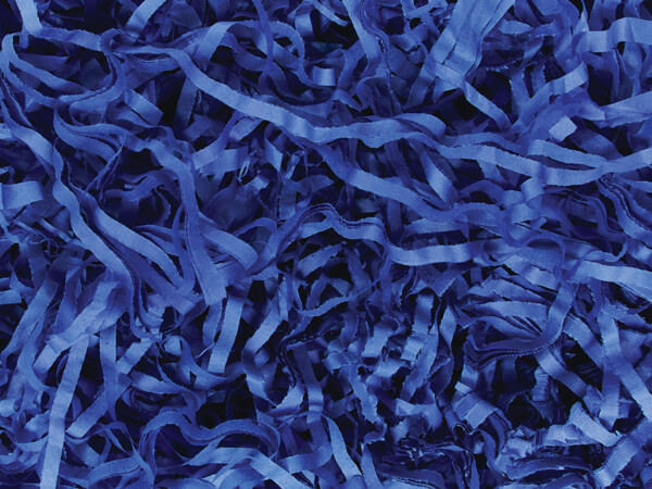Dark Blue Color Tissue Paper Shred, 1 lb Bag