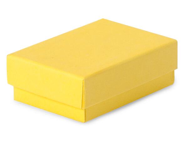 "Yellow Jewelry Gift Boxes, 2.5x1.5x.75"", 100 Pack, Fiber Fill"