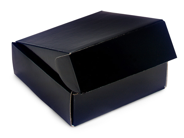 "Black Gourmet Shipping Boxes, 6x6x2"", 6 Pack"