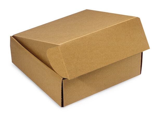 "Brown Kraft Gourmet Shipping Boxes, 6x6x2"", 6 Pack"